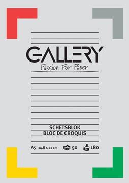 Gallery schetsblok, ft 14,8 x 21 cm (A5), 180 g/m², blok van 50 vel