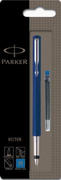 Parker Vector vulpen blauw, op blister