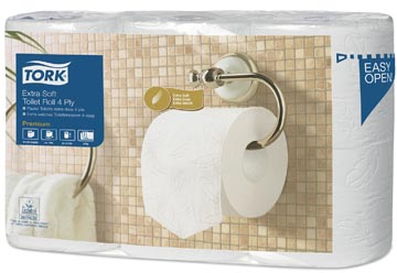 Tork toiletpapier Conventional, 4-laags, systeem T4, pak van 6 rollen