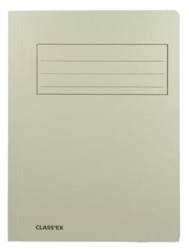 Class'ex dossiermap, 3 kleppen ft 23,7 x 32 cm (voor ft A4), grijs