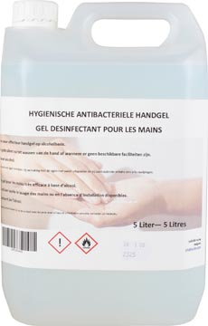 Hygiënische antibacteriële handgel, navulling van 5 liter