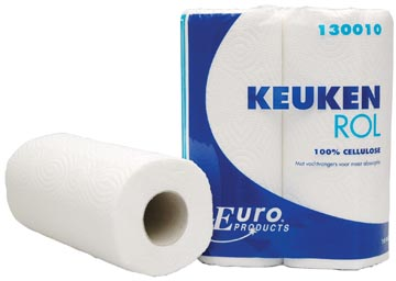 Europroducts keukenrol, 2-laags, 50 vellen, pak van 2 rollen