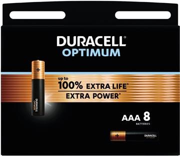 Duracell batterij Optimum AAA, blister van 8 stuks