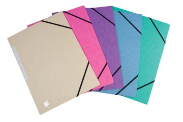 Pergamy elastomap 3 kleppen, geassorteerde pastelkleuren, pak van 10