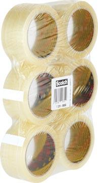 Scotch verpakkingsplakband Classic ft 50 mm x 66 m, transparant, pak van 6 rollen