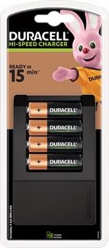 Duracell batterijlader Hi-speed Expert Charger, inclusief 4 AA batterijen, op blister