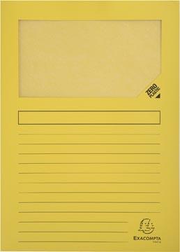 Exacompta L-map met venster Forever, pak van 100 stuks, geel