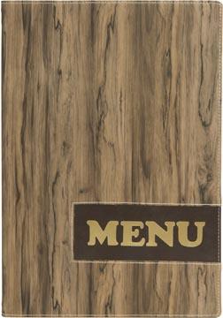 Securit Menukaart Design, ft A4, Wood