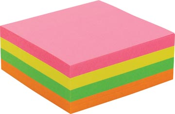 Pergamy jumbo notes, ft 76 x 76 mm, 320 vel, geassorteerde neonkleuren