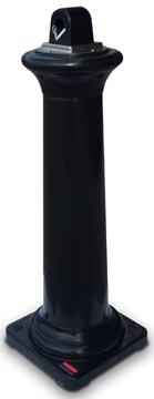 Rubbermaid peukenzuil Tuscan, ft 36 x 36 x 103 cm, zwart