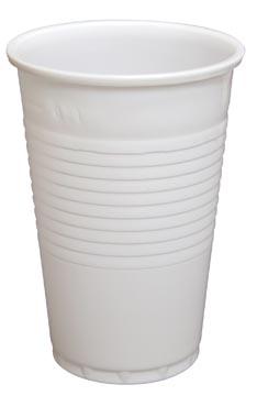 Drinkbeker uit PP, 200 ml, wit, pak van 100 stuks