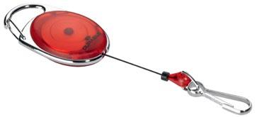 Durable afrolmechanisme met karabijnhaak rood, op blister