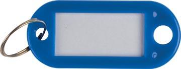 Q-Connect sleutelhanger, pak van 10 stuks, donkerblauw