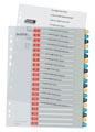 Leitz Cosy tabbladen, ft A4, 11-gaatsperforatie, PP, geassorteerde kleuren, set 1-20